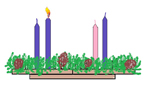 One Candle Lit on the Advent Wreath