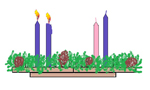 Two Candles Lit on the Advent Wreath