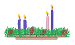 All Four Candles Lit on the Advent Wreath