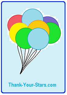 Image of Birthday Balloons Floating Skyward