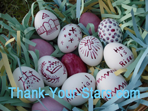 Close-up of Easter Eggs in Easter Egg Basket 02