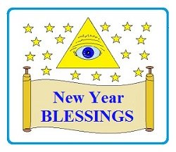 All-Seeing Eye of God with Scroll and New Year Blessings