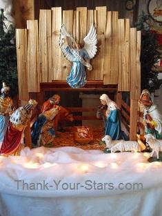 Christmas Nativity Scene in Church