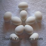 White Easter Eggs in the Shape of a Star 02.