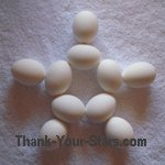 White Easter Eggs in the Shape of a Star 03.